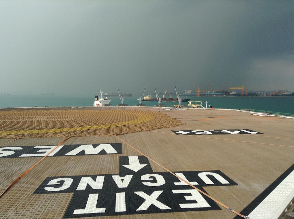 Alternativ trening i solen offshore til årets første delmål, Sesilåmi 2014
