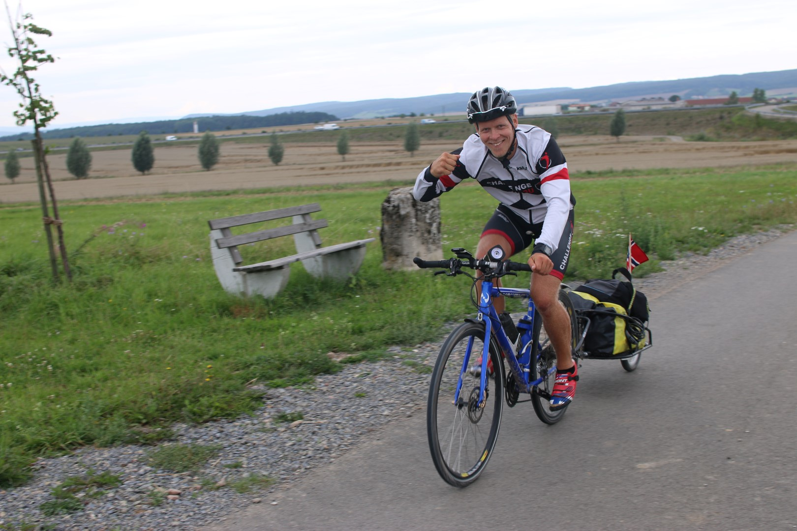 Cycling as far as possible before the rain hits me. The Czech boarder is getting closer every day