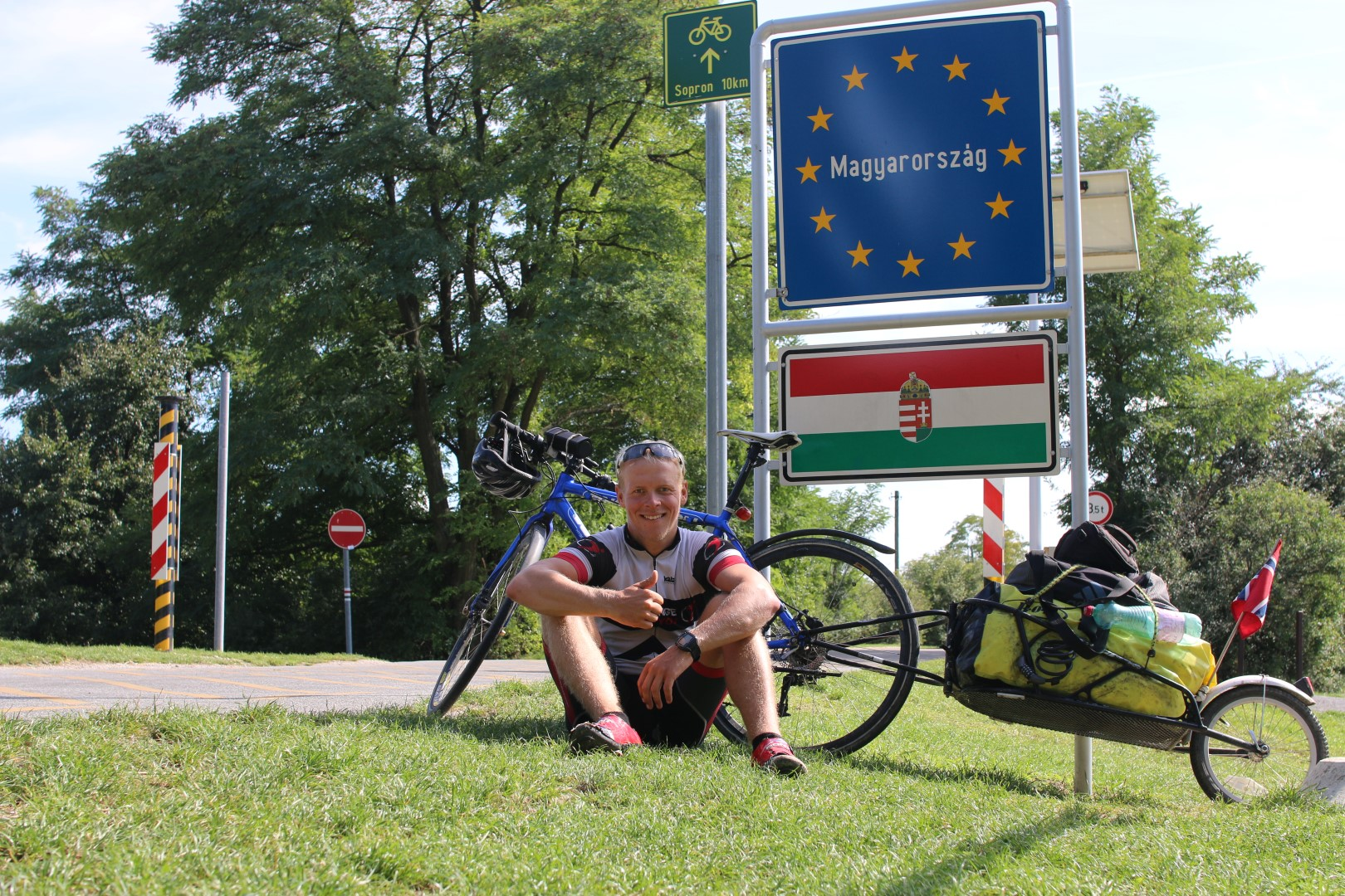 Crossing the boarder between Austria and Hungary 5 times on my way to Koszeg