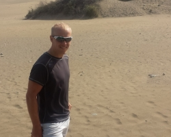 Stian ved stranda