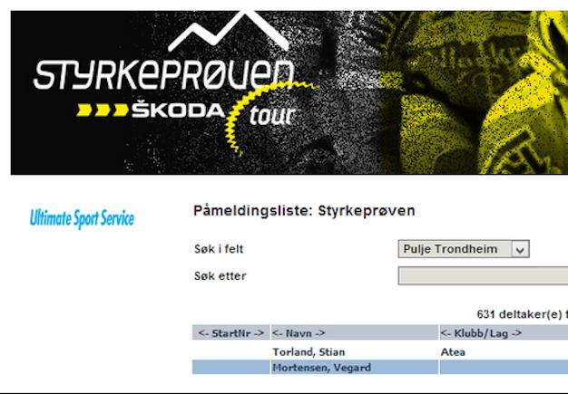 Step  1:  Påmelding  til  Styrkeprøven  2013  –  Check!