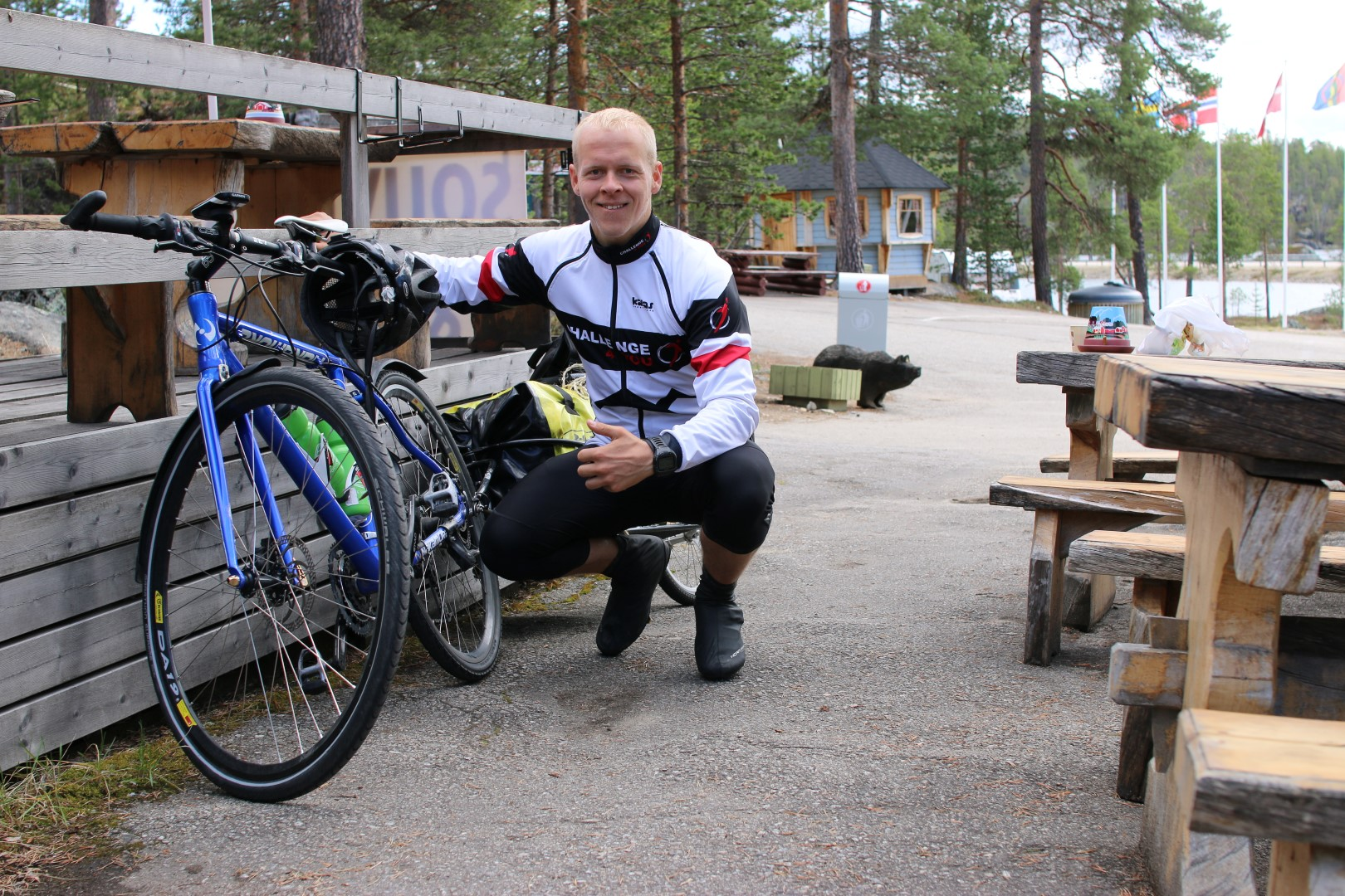 Restitution  day,  only  43Km  to  a  camping  a  few  km  from  Ivalo