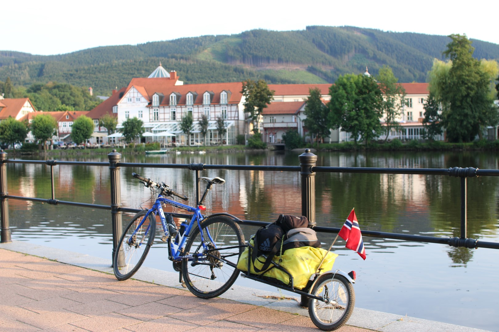 Cycling  to  Ilsenburg,  the  foot  of  the  Hartz  mountain