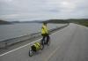 Morten på vei fra Nordkapp til Olderfjord