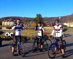 Idar, Morten og Stian etter fullført 14 milstur