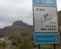 Starten på stigningen mot Soria