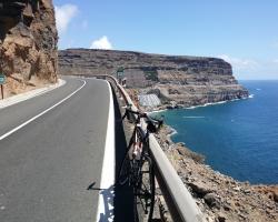 Utsikt fra veien rett etter Puerto de Mogan